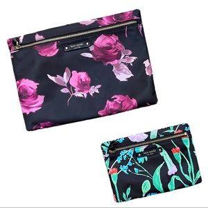 KATE SPADE Floral Hummingbird Cosmetic Bags